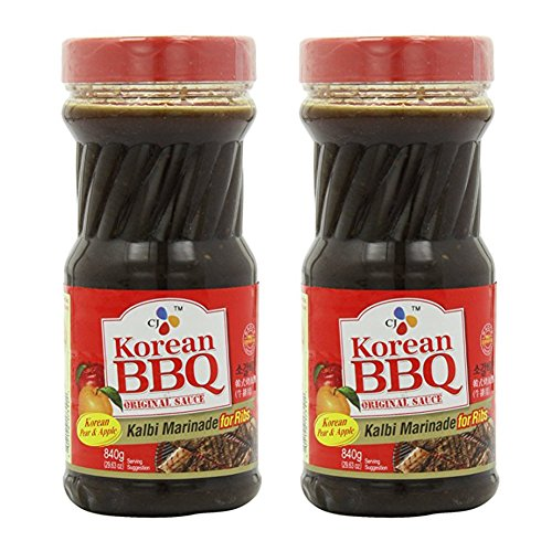 [ 2 Packs ] CJ Korean BBQ Sauce, Kalbi, 29.63-Ounce Bottle for Ribs