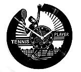 Instant Karma Clocks Orologio in Vinile da Parete Idea Regalo Vintage Handmade Sport Tennis, PVC