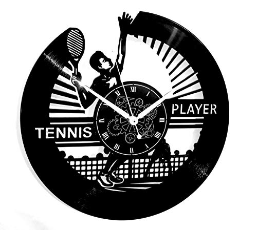 Instant Karma Clocks Orologio in Vinile da Parete Idea Regalo Vintage Handmade Sport Tennis
