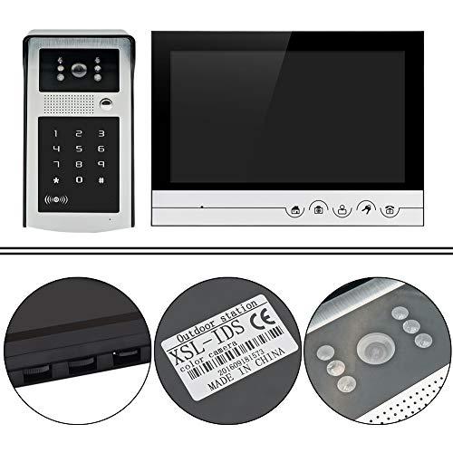 Timbre del teléfono digital, 800 x 480 aleación del cinc del intercomunicador de la puerta de la cámara de 12,5 x 5 x 2,7 cm