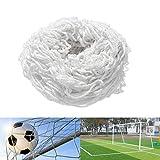 YSISLY Red de Fútbol, Redes de Repuesto Redes de Portería Fútbol para Deportes Redes de Entrenamiento para Partidos para Niños y Adultos Que Juegan a Entrenar (12X6FT)
