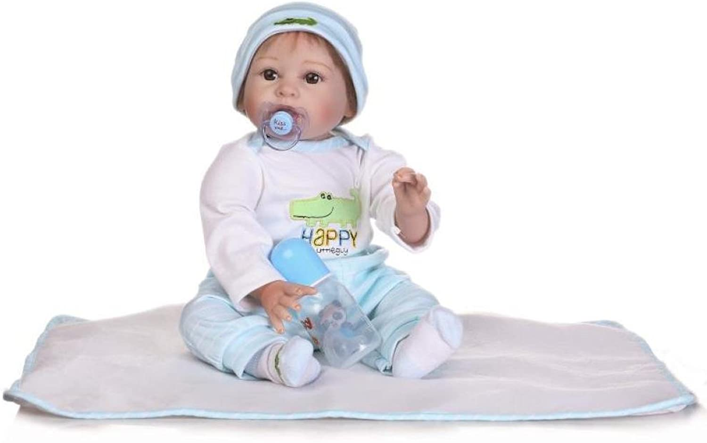 JHGFRT Wirklich Wiedergeborenes Baby Puppe Weichem Silikon Simulation Neugeborenes Baby Früherziehung Spielzeug Geburtstag Geschenk 22 Zoll 55 cm B07NW6CS7J Einzigartig  | Das hochwertigste Material