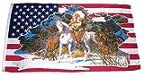 Flagge / Fahne USA - Indianer weißes Pferd 60 x 90 cm