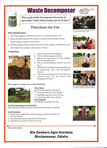 Green Wood Waste decomposer ncof Ghaziabad 6 Bottle Packing   Waste decomposer Organic Compost Maker for Home Plants   bio decomposer to decompose biodegrable Waste
