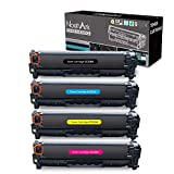 NoahArk Cartuchos de tóner compatibles HP 304A (CC530A CC531A CC532A CC533A) de Repuesto para HP Color Laserjet CP2320 CM2320nf CP2025 CP2025n (1 Negro, 1 Cian, 1 Magenta, 1 Amarillo)