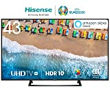 HISENSE H43BE7200 TV LED Ultra HD 4K, HDR, Dolby DTS, Single Stand Slim Design,...