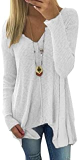 FSSE Women Long Sleeve Casual Solid Color Knit Pullover Sweaters Jumper
