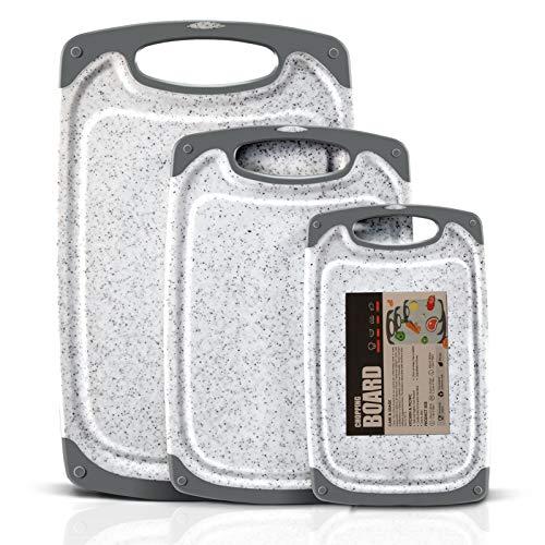MASTERTOP Juego 3 Tablas de Cortar Grandes de Plástico Grue