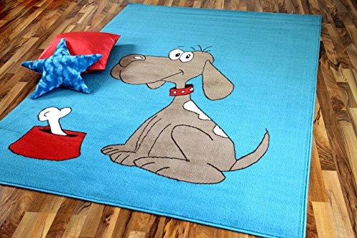 TrendLine Kinderteppich Hund Türkis in 5 Größen