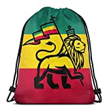 QUEMIN Reggae Lion Sport Bag Gym Sack Mochila con cordón 14.2 x 16.9 Pulgadas / 36 x 43cm