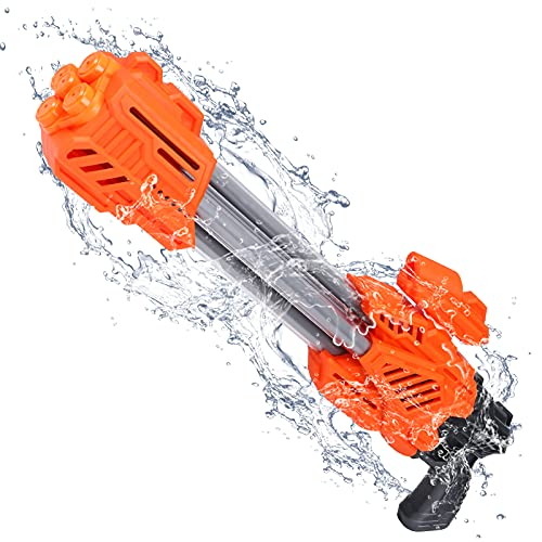 Tinleon Water Guns: Large Squirt Guns for Adults Kids, Shoot up to 46ft, 5 Nozzles 1000CC High Capacity, Water Blaster Pool Toys for Summer Party