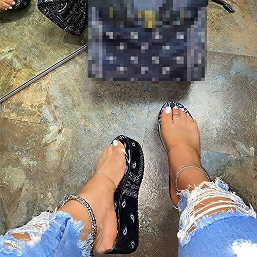 Transparente Sommerschuhe Für Frauen Mit Flachem Absatz, Europäische Und Amerikanische Mode 4 cm Dicke Sohlenblumen-Oberbekleidung Bequeme rutschfeste Und Verschleißfeste Hausschuhe
