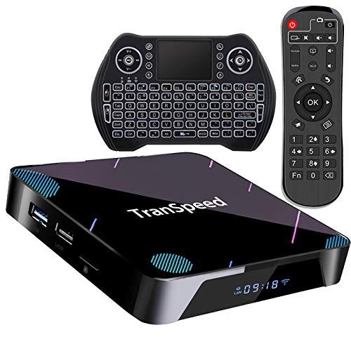 Android 10 TV Box, Amlogic S905X3 4GB 128GB Support 8K 4K 3D Ultral HD Video Smart tv Box with Mini Keyboard