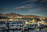 SHILIHOME Puerto de Playa Blanca Barcos de Colores Lanzarote Pintura por números DIY Único