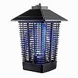 ZHTY lámpara de Mosquito Atrapamiento UV de 360 ° y Red eléctrica de Alto Voltaje para Matar eficazmente a los Mosquitos,Resistente al Viento y a la Lluvia Adecuado para Interiores y Exteriores.