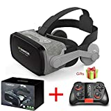 None Hot!2019 Shinecon Casque 9.0 VR Virtual Reality Goggles 3D Glasses Google Cardboard VR Headset Box for 4.0-6.3 inch Smartphone (Color : with Controller E)