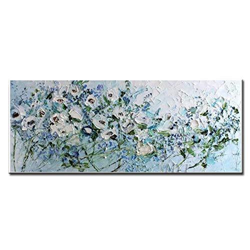 LEPOTN Abstrakte Kunst Messer Blumen Malerei Auf Leinwand Acryl Landschaft Wandkunst Malerei Bilder Für Wohnzimmer Wand-dekor Kein Rahmen-28 x44(70X110CM) Rahmenlos