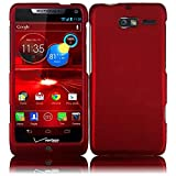 Red Rubberized Protector Case for Motorola DROID RAZR M XT907