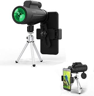 JD9 Monocular Telescopio de Alta Potencia Monocular Alcance Impermeable Monoculares con Clip de Tel/éfono y Tr/ípode para Tel/éfono Celular para Ave Ver