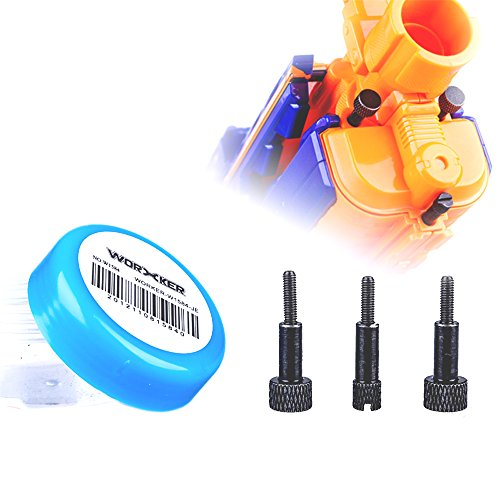 Worker Mod Accesorios para tornillos de mano para Nerf N-strike Elite Rapidstrike CS-18 Blaster Toy