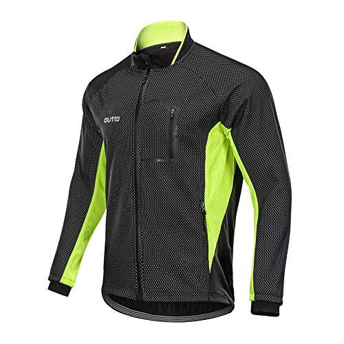 LybMjG Montaña Maillot,Traje De Ciclismo para Hombre, Camisa Acolchada De Manga Larga Cálida para Bicicleta De Carretera De Bicicleta De Montaña De Invierno-Amarillo_3XL