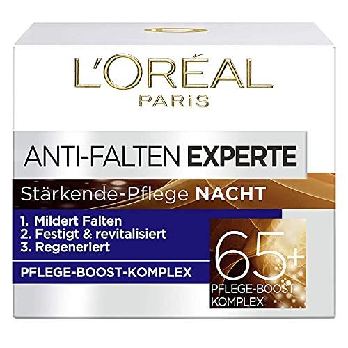 L\'Oréal Paris Nachtpflege für das Gesicht, Anti-Aging Nachtcreme zur Minderung von Falten, Vitamin B3 und Vitamin E, Festigt und revitalisiert die Haut, Anti-Falten Experte, 1 x 50 ml