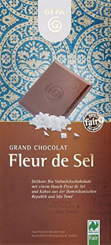 GEPA Bio-Schoko Fairt.Spez, Fleur de Sel, 10er Pack (10 x 100 g)