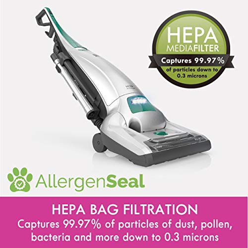 Kenmore 53294 Style O HEPA Cloth Vacuum Bags for Kenmore Upright Vacuum Cleaners 6 Pack,White