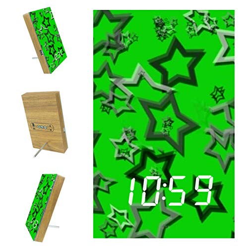 Eslifey - Reloj despertador con cadena USB para escritorio, diseño de estrellas