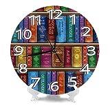 掛け時計 テレサの本棚 置き時計 ウォールクロック 連続秒針 サイレント 簡単 デジタル コンパクト インテリア おしゃれ 北欧 電池式 部屋装飾 子供部屋