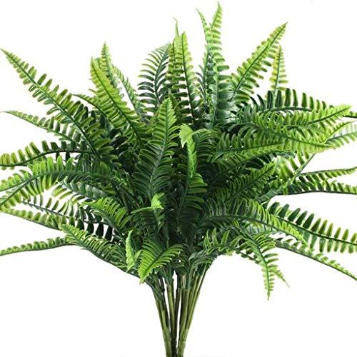 Andifany Planta Artificial Arbusto de Helecho Arbusto de Planta para JardíN Al Aire Libre Oficina BalcóN DecoracióN de la Boda / 10 Racimos