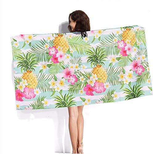 Oversized badbadhanddoek, sneldrogend lichtgewicht ultra absorberende handdoeken voor vrouwen Kids Travel Sports, compacte fitness, zwemmen, strand, yoga, bad, gratis mesh opbergtas, 63x31 inch