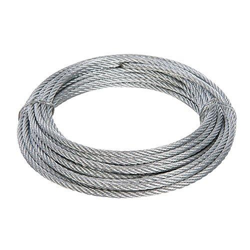 Fixman 876416 Câble métallique galvanisé, Argent