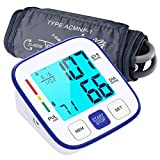 Blood Pressure Machine for Upper Arm, ATMOKO Automatic BP Monitor Kit with Large Backlit Display for Home Use, 2x120 Memory, Wide Range Cuff 22-42cm