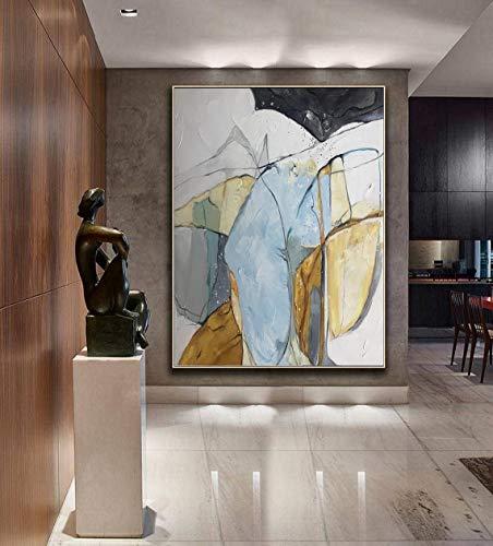 N\A Arte De Pared De Lienzo Pintura Abstracta Carteles e imágenes decoración de la Pared decoración para el Arte de la Sala de Estar-Sin marco70x90cm
