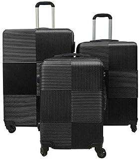 مجموعة حقائب السفر الصلبة من ريتش اند فايموس، حقيبة بعجلات، موديل RF-008، مجموعة حقائب بقياس 20 و24 و28 انش - مزودة بقفل ت...