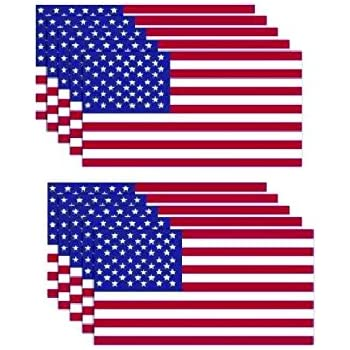 Amazon Com 10 Pack American Flag Stickers Made Of 3m Vinyl