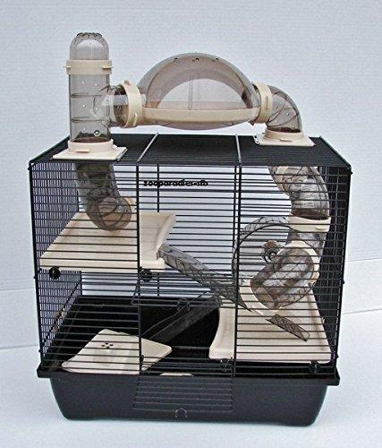 Interzoo Nagerkäfig,Hamsterkäfig,Zwerghamsterkäfig, Rocky,Teddy Lux,Hamster,Maus,Nager,Käfig,Mäusekäfig incl. Röhrensystem Bild