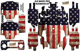 Ultradecals American USA Flag DJI Mavic Pro Skin Wrap Decal Sticker Battery Body