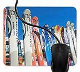 Mauspad Ski Rack Super Skiurlaub Rutschfeste Gummi Basis Mouse pad, Gaming mauspad für Laptop,...