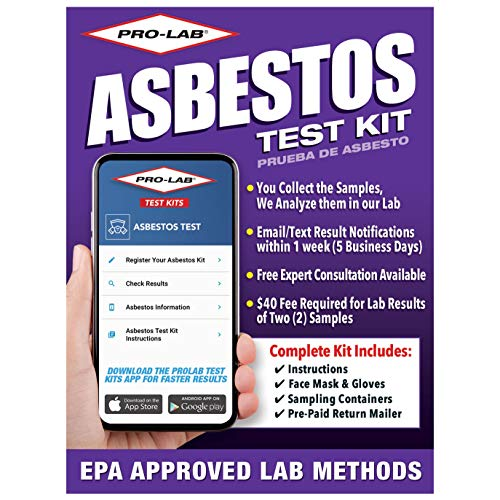 ProLab Asbestos Test Kit -You collect 2 samples, We analyze them. Emailed results within 1 week (5 Business days) Includes return mailer and Expert Consultation. $40 fee required to analyze the 2 samples (AS108)