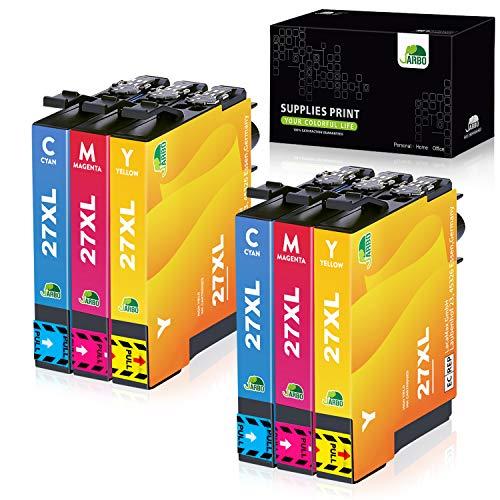 JARBO 27 XL Druckerpatronen Ersatz für Epson 27XL Tintenpatronen Kompatibel für Epson Workforce WF-3620 WF-3640 WF-7110 WF-7210 WF-7610 WF-7620 WF-7710 WF-7715 WF-7720 (2 Cyan, 2 Magenta, 2 Gelb)