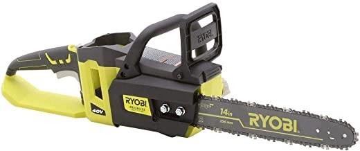 Ryobi 14 in. 40-Volt Brushless Lithium-Ion Cordless Chainsaw - Bare Tool - (Bulk Packaged) (Renewed)