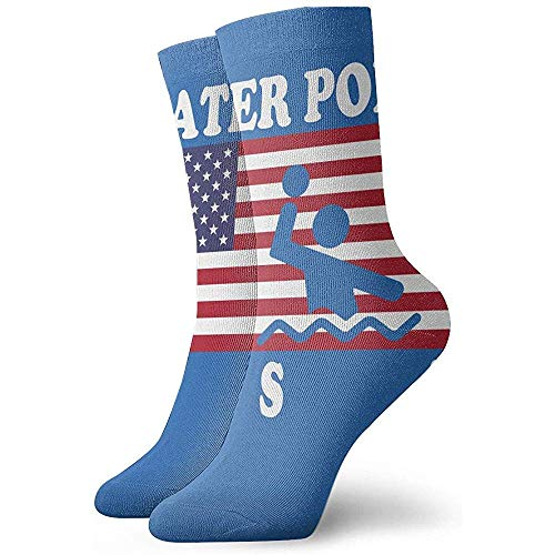 Gre Rry Hommes 'S American Flag Water Polo Crew Chaussettes Moisture Control Thermal Socks