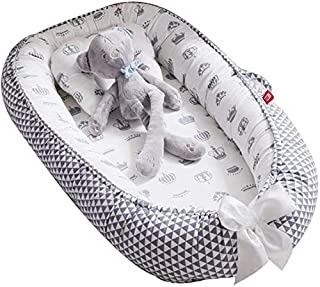 Baby Lounger Nest,Portable Crib and Bassinet Perfect for Co Sleeping,Super Soft and Breathable Newborn Lounger Cushion Suitable from 0-12 Months - Detachable & Machine Washable (#1)
