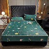 FJMLAY Sábanas ajustablesperfecto para el colchón, sensación Suave,Sábana Ajustable de látex para Cama, Dormitorio,...
