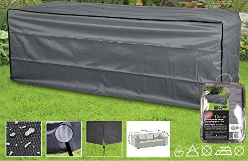 Deluxe Abdeckhauben für Gartenmöbel Schutzhüllen (3er Rattan Sofa,ca.220x80x80)