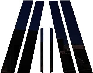Ferreus Industries Piano Black Pillar Post Trim Cover fits: 2006-2011 Honda Civic 4 Door Sedan PIL-028-GB