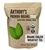 Anthony's Organic English Breakfast Loose Leaf Tea, 1 lb, Gluten Free, Non GMO, Non Irradiated, Keto...