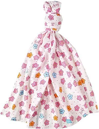 Lief! XL 21cm X 21cm X 2 cm hydrofiel doek met bloemenprint